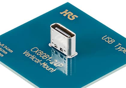 CX80 - Vertical USB Type-C Connector